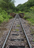 Railroad metric track Royalty Free Stock Images