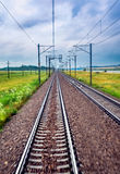 Railroad in motion Stock Images