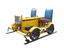 Railroad  motorized worker's track cart isolated Royalty Free Stock Photography