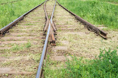 Railroad. Move forward!. Rails Rails Rails. Lets change our life and move forward Royalty Free Stock Photo