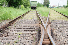 Railroad. Move forward!. Rails Rails Rails. Lets change our life and move forward Royalty Free Stock Image