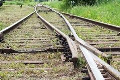 Railroad. Move forward!. Rails Rails Rails. Lets change our life and move forward Stock Photo