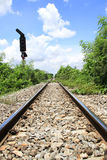 Railroad nature. Rail corridor to beauty of nature Stock Images