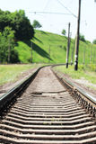 the railroad near the Nature Royalty Free Stock Image
