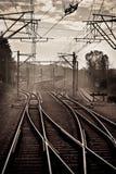 Railroad nod. Near Campina city stock image