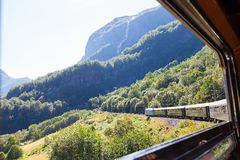 Railroad in norway Stock Photo