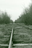 Railroad. Old train railroad Stock Photo