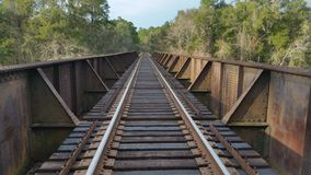 Railroad Over The Suwannee River royalty free stock photography