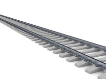 Railroad over white background Royalty Free Stock Photo