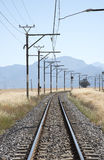 Railroad passing through countryside South Africa Royalty Free Stock Photos