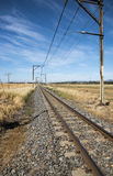 Railroad passing through countryside South Africa Royalty Free Stock Photography