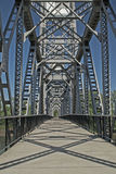 Railroad Pedestrian Bridge Walkway Stock Photography