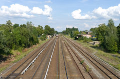 Railroad. Perspective. Royalty Free Stock Image