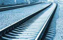 Railroad in perspective Royalty Free Stock Photo