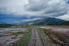 Railway in Peru Stock Photography