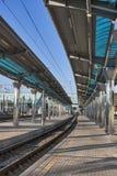 Railroad platform Royalty Free Stock Photo