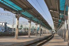 Railroad platform Stock Photography