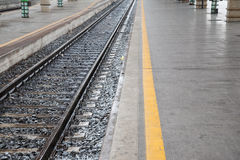 Railroad Platform and Track Stock Photography