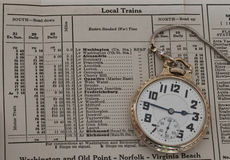 Railroad pocket watch Royalty Free Stock Photography
