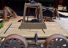 Railroad pump car Royalty Free Stock Images