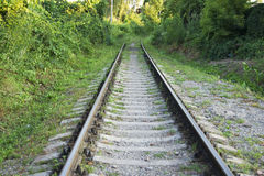 Railroad rail, background, summer, railway, perspective, dream, beautiful Royalty Free Stock Photography
