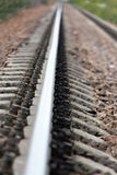 The railroad rail leaving afar Royalty Free Stock Photos