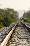 Railroad. S in the vast nature Stock Photos