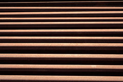 Railroad Rails rust. Old, used railroad rails piled up, waiting for disposal Royalty Free Stock Image