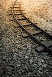 Railroad or railway track for classic train Royalty Free Stock Photo