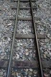 Railroad or railway track for classic train Stock Image
