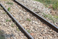 Railroad, railway tracks Stock Photos