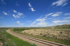 Railroad Through Ravenscrag Royalty Free Stock Photo