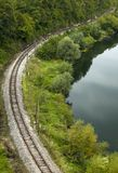 Railroad and river Royalty Free Stock Photography