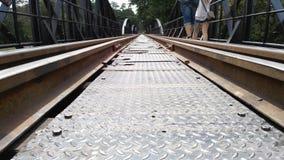 Railroad on river Stock Photo
