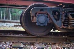 Railroad scene. With cargo train Royalty Free Stock Photo