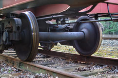 Railroad scene. With cargo train Royalty Free Stock Image
