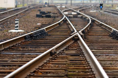Railroad seeks to distance Royalty Free Stock Image