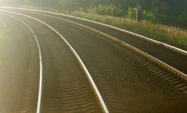 Railroad seeks to distance Stock Photo