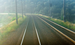 Railroad seeks to distance Royalty Free Stock Images