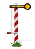 Railroad semaphore. Illustration isolated on white background Royalty Free Stock Images