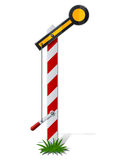 Railroad semaphore Stock Photo
