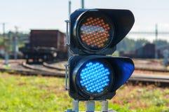 Railroad semaphore Royalty Free Stock Images