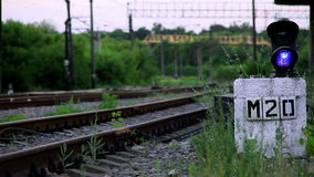 The Railroad Is a Semaphore. The Static Frame stock footage