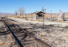 Railroad siding at Wabuska, Nevada Royalty Free Stock Image