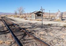 Railroad siding at Wabuska, Nevada. Railroad siding at historic Wabuska, Nevada Royalty Free Stock Image