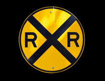 Railroad sign isolated Stock Image