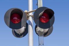 Railroad signal lights detail royalty free stock image