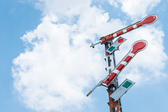 Railroad signal poles Royalty Free Stock Photos