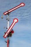 Railroad signals Stock Photo