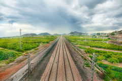 Railroad in Spain Royalty Free Stock Photos